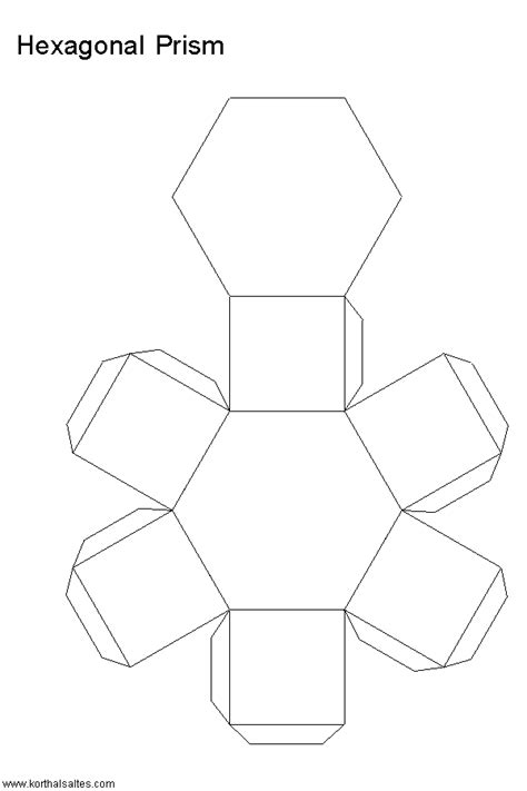 How To Make A Hexagonal Prism Out Of Paper - mod 232 le en papier d un prisme hexagonal