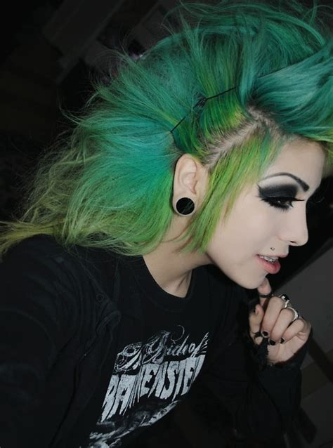 punk hairstyles definition blue green mohawk punk pinterest green hair and