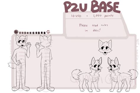 p2u canine anthro and feral base   UPDATED 12/9/16 by quardie on DeviantArt