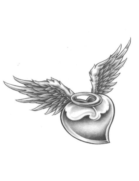 broken angel wings tattoo designs black wing with broken halo tattoos with