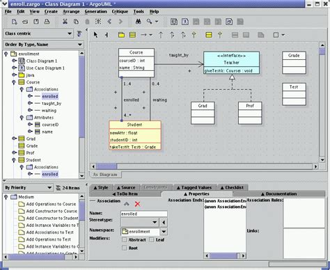 argouml class diagram language agnostic how can i complete this step in the