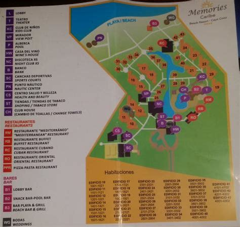 memories flamenco resort map hotel map picture of memories caribe resort cayo
