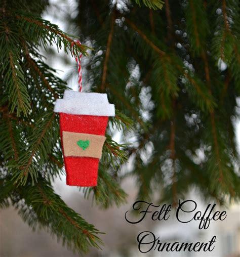 artsy ornaments felt coffee cup ornaments latta creations
