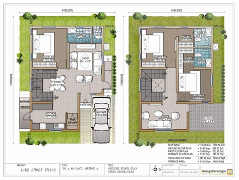 home design for 30x40 site 40 x 50 house plans east facing