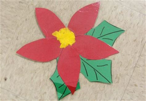 poinsettia pattern for kindergarten christmas around the world unit christmas pinterest