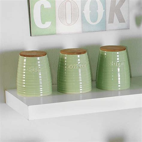 Canister Sets For Kitchen winnie tea coffee amp sugar canisters look again