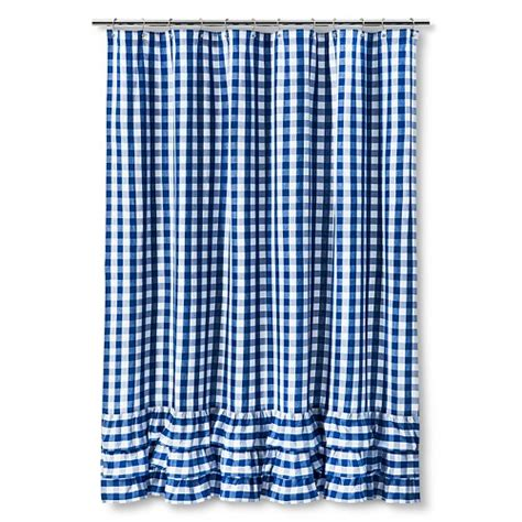 gingham shower curtain pottery barn kids gingham shower curtain ebay