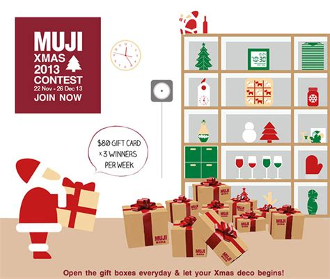 Muji Gift Card - muji christmas contest game 2013 stand a chance to win 80 gift card weekly great