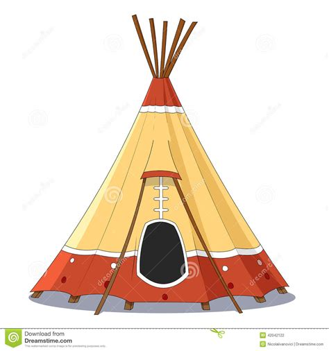 tende indiane indian tent stock vector image 42042122