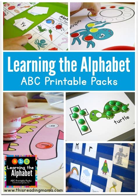 printable alphabet readers learning the alphabet printable abc packs