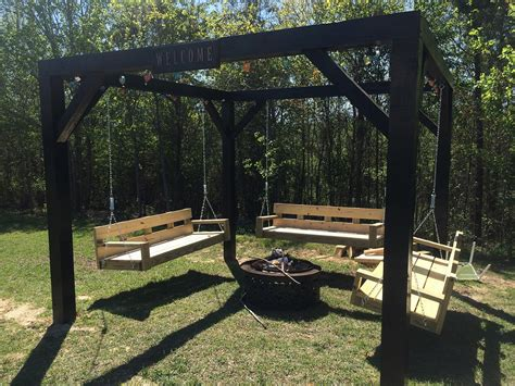 diy pit swing set pit seating to make your outdoors cozy