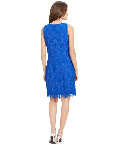 Rl Dress Glowing Blue by ralph sleeveless crochet dress in blue island blue lyst