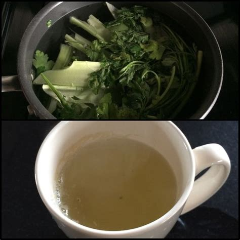 Parsley Detox Drink by Detox Drink Celery And Parsley Brought To A Boil Remove