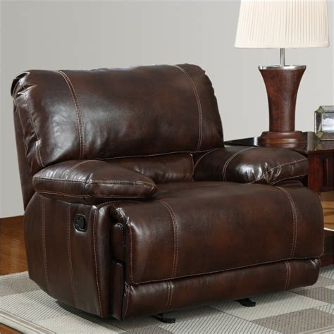 Brown Leather Recliner 1953 Glider Recliner Chair In Brown Leather U1953 G R M