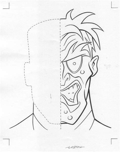 batman head coloring page batman 2face colouring pages arkham city two face batman