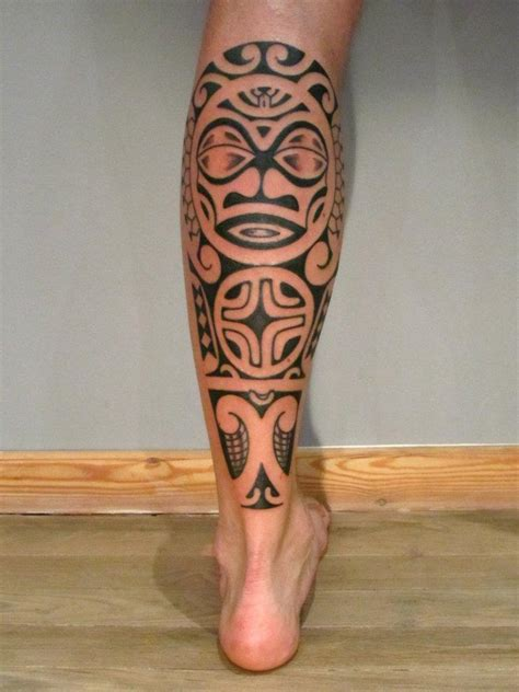 tribal calf tattoo designs tattoos for calf