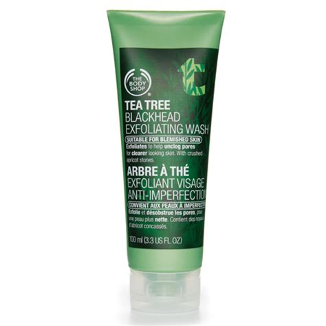 The Shops Tea Tree Blackhead Exfoliating Wash Review by Looking For The Best Cleanser For Blackheads Easy Hair