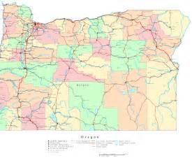 map of oregon with counties oregon printable map