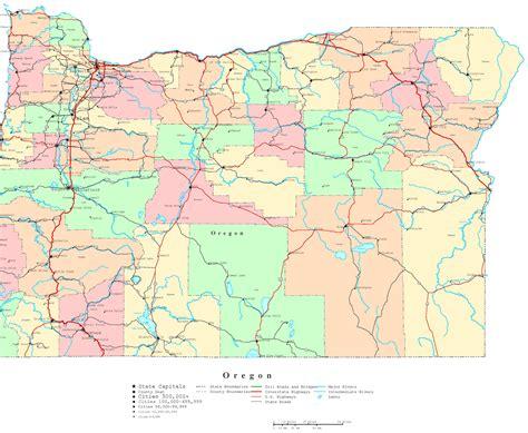 oregon printable map