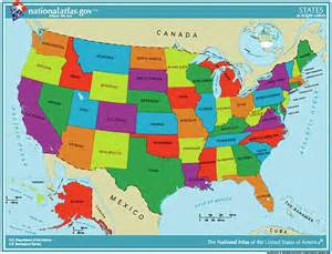 united states of america map labeled pictures to pin on