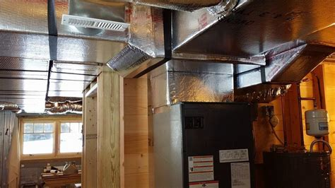 hvac design for new home hvac options log home under construction