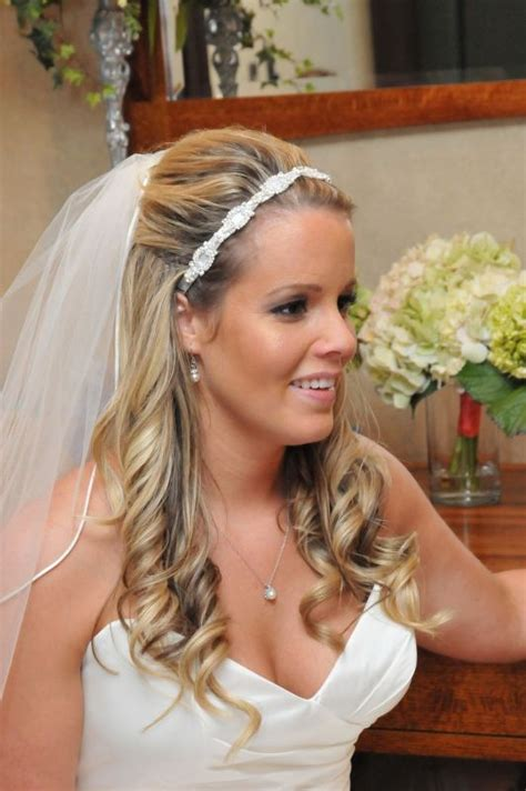 Wedding Hairstyles Half Up With Veil by Thin Hair Half Up Half Weddingbee