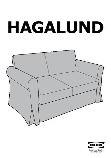 divano letto hagalund hagalund convertible 2 places blekinge blanc ikea