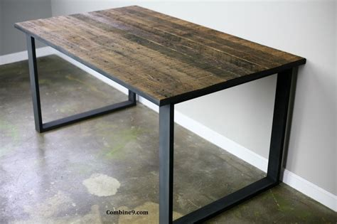 dining table desk modern industrial mid century rustic