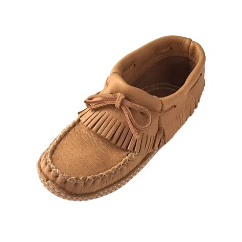 soft sole slippers s genuine moosehide fringed leather soft sole