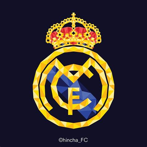 imagenes real madrid logo real madrid logo low poly vector designs on behance