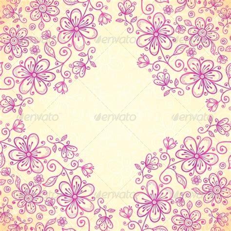 wallpaper doodle pink pink doodle vintage flowers vector background by art of