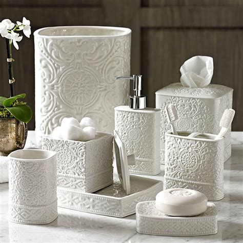 Damask Porcelain Bath Accessories Gracious Style Accessories Bathroom