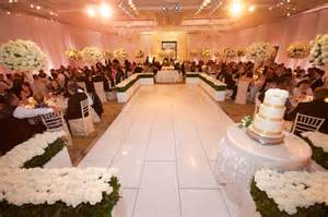wedding and reception in same room