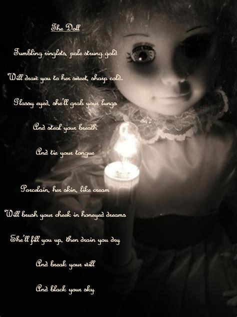 the porcelain doll poem poem for a creepy doll on image