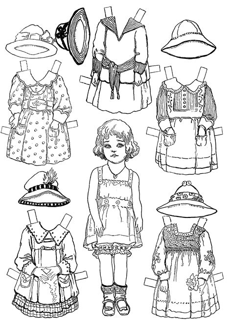 Doll Coloring Pages To Print Free Printable Paper Doll Coloring Pages For Kids by Doll Coloring Pages To Print