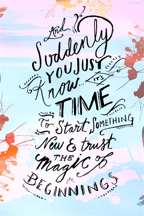 transition to our new home the academy a high school run monday quote the magic of beginnings