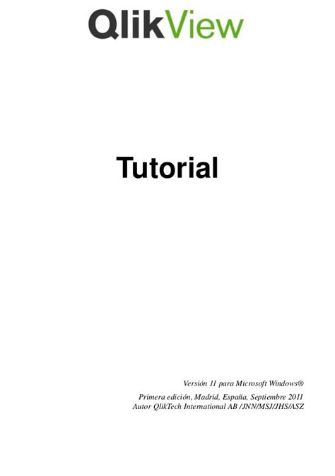 qlikview official tutorial qlik view tutorial