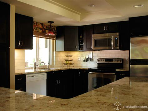 Island Kitchen Lights black kitchen cabinets contemporary kitchen seattle
