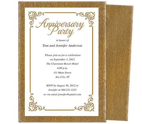 Wedding Anniversary Party Templates : Laurel Wedding