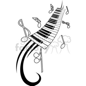 house music tattoo designs royalty free music piano tattoo design 377681 vector clip art image eps illustration