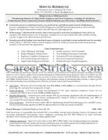 Director Of Operations Resumes by Director Of Operations Resume Sle Exle