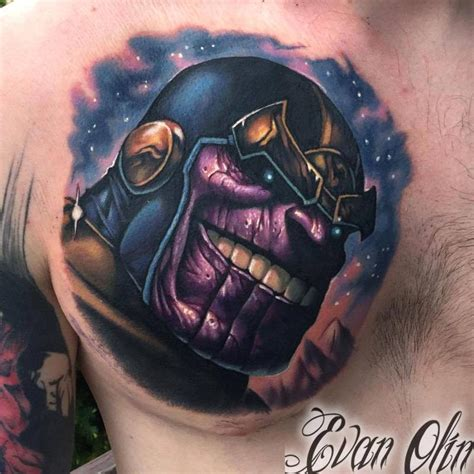 thanos tattoo thanos by evan olin tattoonow