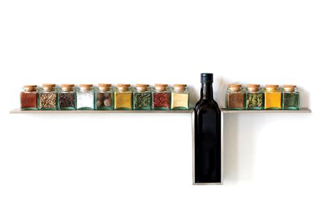 Spice Rack Stainless Steel 1 Line Spice Rack By Desu Design