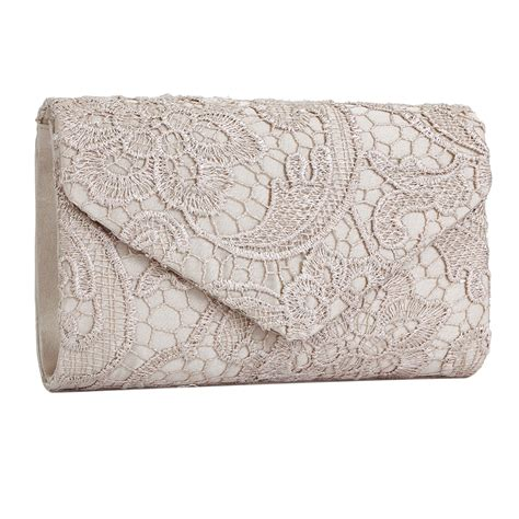 Floral Clutch fashion satin lace floral clutch bag evening shoulder bag