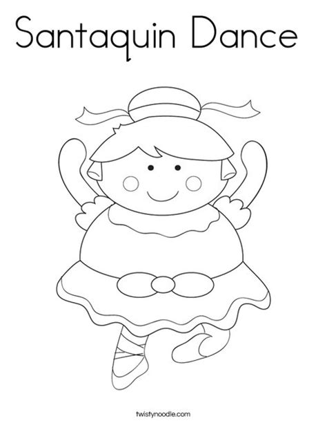 dancing santa coloring page santaquin dance coloring page twisty noodle