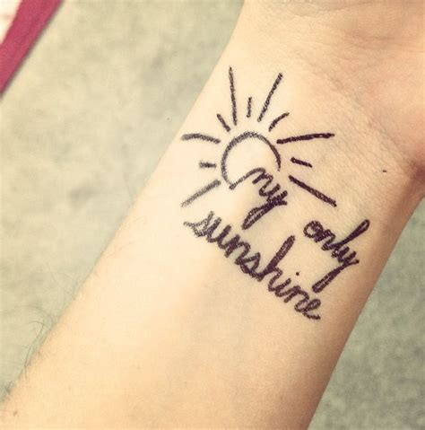 my only sunshine tattoo tattoos pinterest