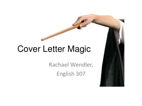 cover letter magic 307 cover letter magic