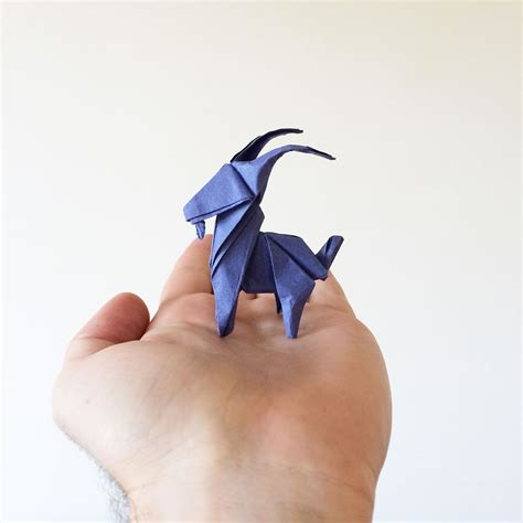 Origami Goat - origami how to make an origami goat origami goat origami