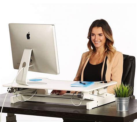 white stand up desk white standing desk the deskriser height adjustable