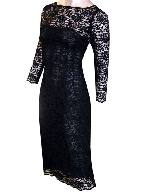 Lace Dress by Fashionista 06340 Black Lace Dress